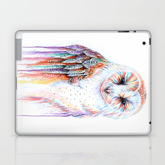 Colorful Owl Laptop & iPad Skin