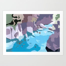 Blue Pools Art Print