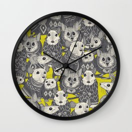 sweater mice chartreuse Wall Clock