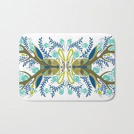 Floral Antlers – Earth Tones Palette Bath Mat