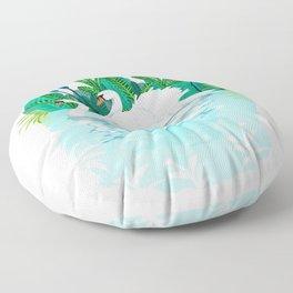 Swans in Love Floor Pillow