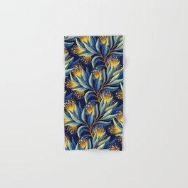 Pohutukawa - Yellow / Blue Hand & Bath Towel