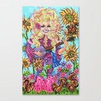 dolly parton Canvas Prints featuring Dolly Parton. by Eliza Brown Art
