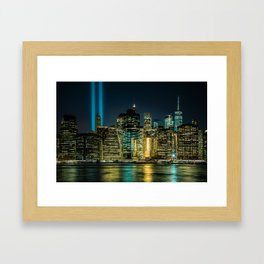 Tribute in Light. New York City, 5 Framed Art Print