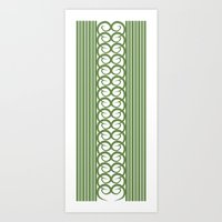 striped Art Prints featuring Striped by Panda