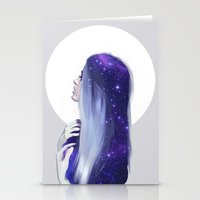 the moon Stationery Cards featuring Moon by Liza van Rees