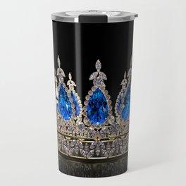 Sapphire Jewel Crown Travel Mug
