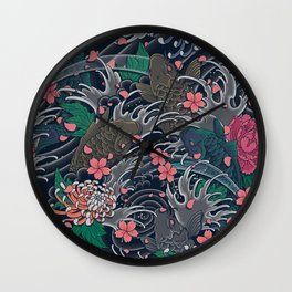 Blossom Blizzard Wall Clock