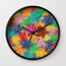 Tropical Fan Palm Paradise – Colorful #05 Wall Clock