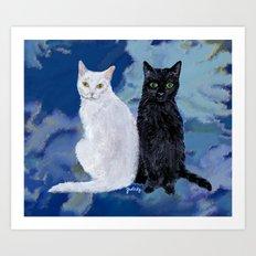 Kingston and Midnight Art Print