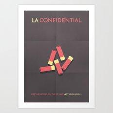 LA Confidential Minimalist Poster Art Print