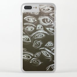 Eyes in the Dark Clear iPhone Case