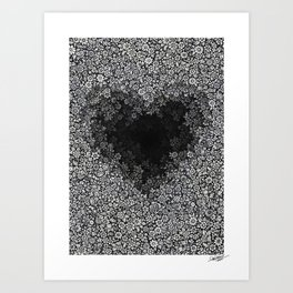 FLORAL HEART - Visothkakvei Art Print