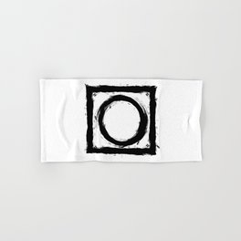 Black and white shapes splatter Hand & Bath Towel