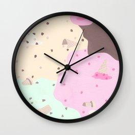 Ice Cream Camo Wall Clock