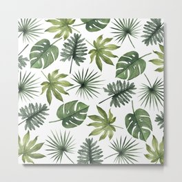 Tropical Leaves 1 Metal Print