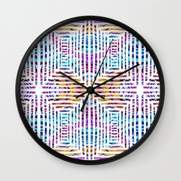 Abstract Cuts In Reflection Wall Clock