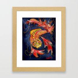 Koi in Contrast Framed Art Print