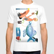 Surrealism Mens Fitted Tee SMALL White