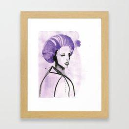 Purple Hair in Purple Haze Framed Art Print