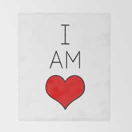 I Am Love. Throw Blanket