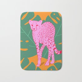A quick cheetah Bath Mat