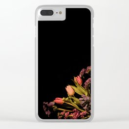 Floral Corner Clear iPhone Case