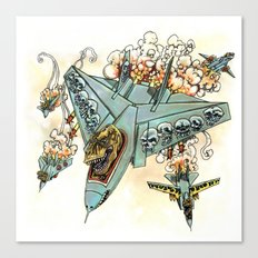 Tyrannosquadron Rex! Canvas Print