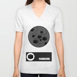 Pandemic - Black Unisex V-Neck