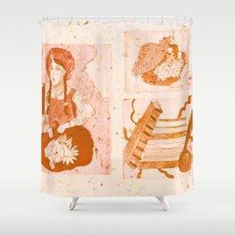 Anne of Green Gables Orange Shower Curtain