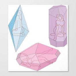 Women are gems Canvas Print