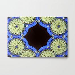 Abstract Tile Metal Print