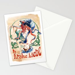 Krake Liebe Stationery Cards