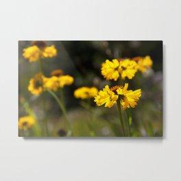 Yellow Petal Metal Print