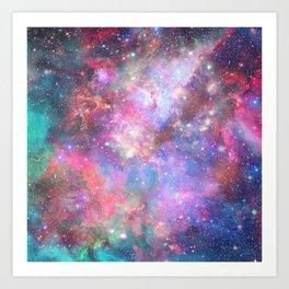Glitter Galaxy Art Print