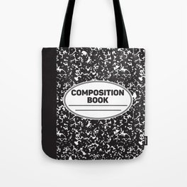 Composition Notebook College School Student Geek Nerd Tote Bag