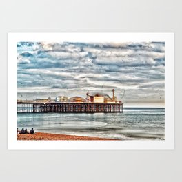 The Pier Rides Go Art Print