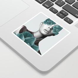 Floral Portrait (woman) Sticker