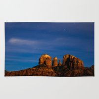 jeep Area & Throw Rugs featuring Sedona Past Midnight by Shaun Terhune