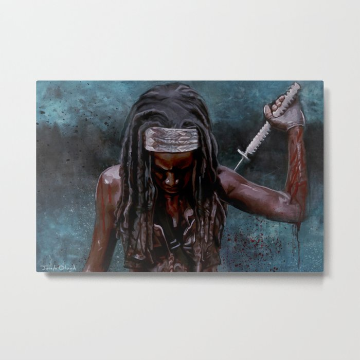 Michonne And Her Sword - The Walking Dead Metal Print