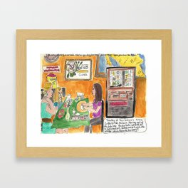 Why Are You Sitting At Our Table? Framed Art Print
