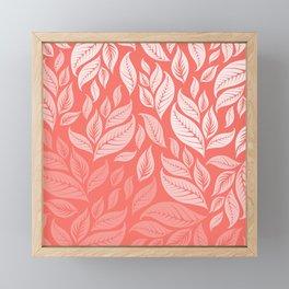 LIVING CORAL LEAVES 2 Framed Mini Art Print