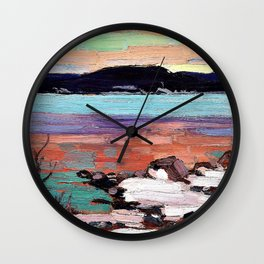 Tom Thomson - Landscape with Snow - Digital Remastered Edition Wall Clock