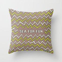 Sea for fun (brown) Throw Pillow