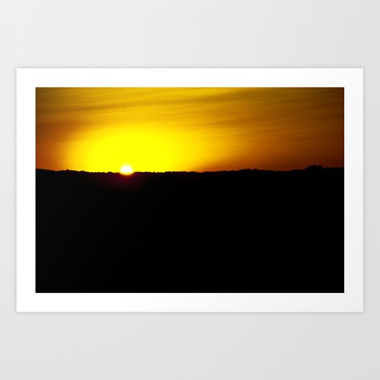 Illinois Sunset Art Print