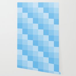 Four Shades of Turquoise Square Wallpaper