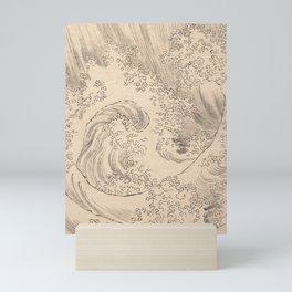 Wave by Katsushika Hokusai 1760–1849, Japanese Mini Art Print