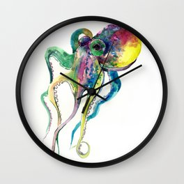 Octopus, Tropical Colors Beach Design Wall Clock