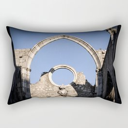 Carmo Ruins Surviving Arch Rectangular Pillow
