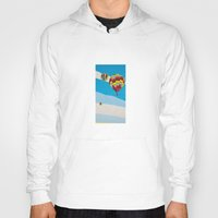 hot air balloons Hoodies featuring Three Hot Air Balloons by Shelley Chandelier